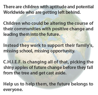 Donate - C.H.I.E.F. - The future belongs to everyone.
